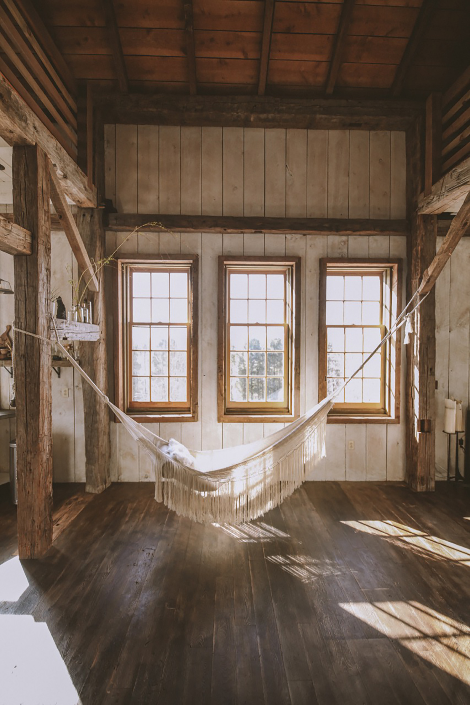 Hammock in Hemlock Hill Barn, Callicoon, New York