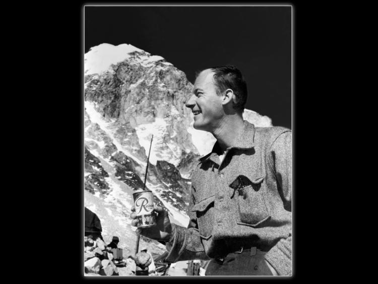 Jim Whittaker drinking Rainier