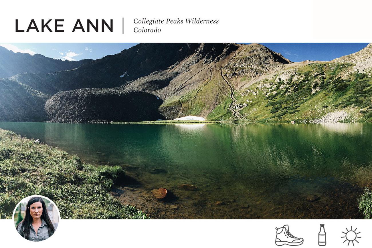 Lake Ann Swimming Hole in Collegiate Peak Wilderness, Colorado