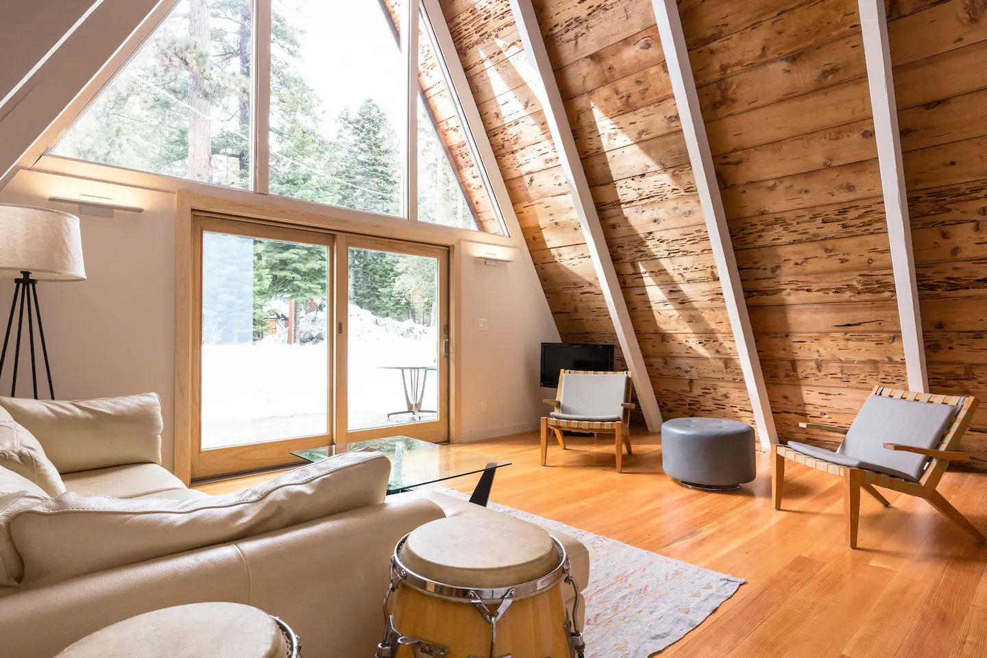 Lake Tahoe A-frame Living Room