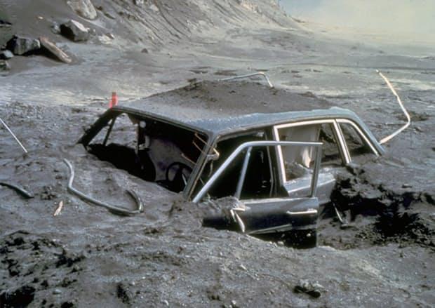 A broken-down car