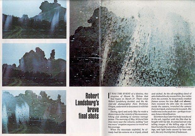 Magazine article about Robert Landsburg's brave final shots