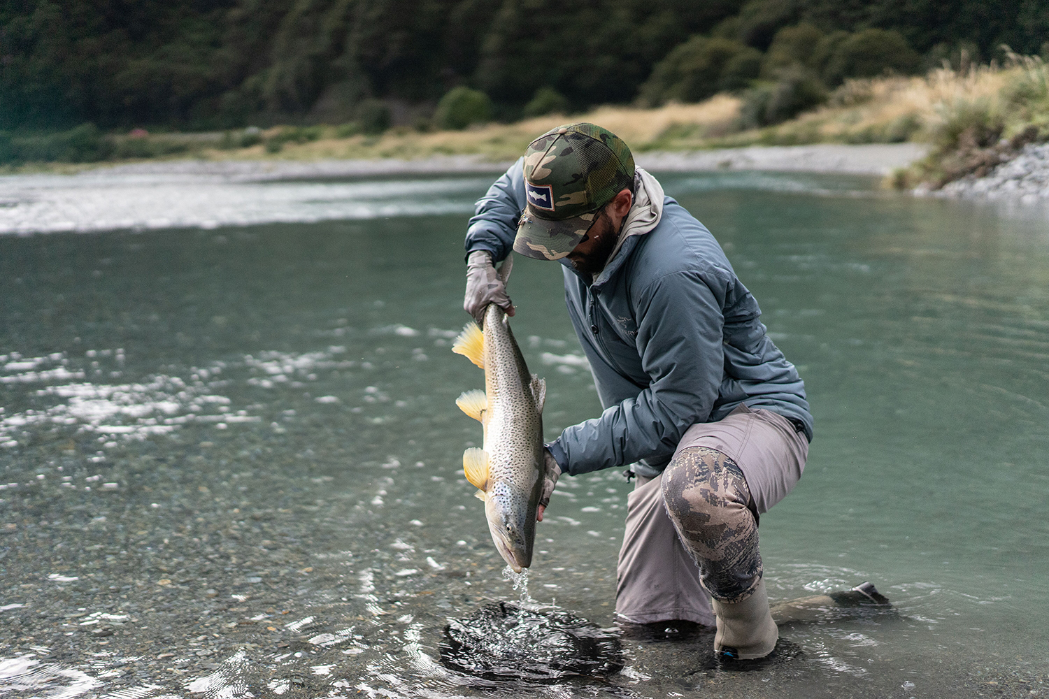 Mike Idell fly fishing in New Zealand