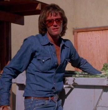 Peter Fonda wearing the denim shirt