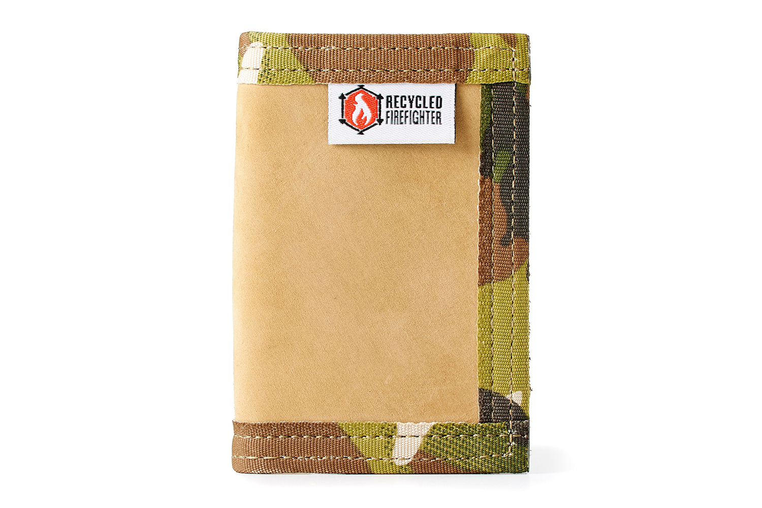 Recycled Firefighter Leather Rookie - Front Pocket Bifold Wallet