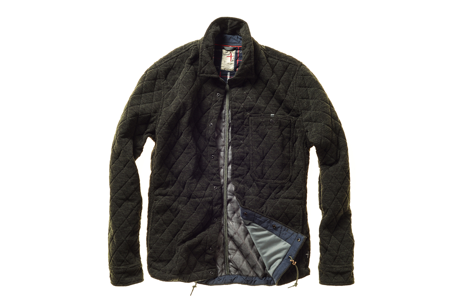 Relwen Knit Jacquard Snap CP Shirt Jacket