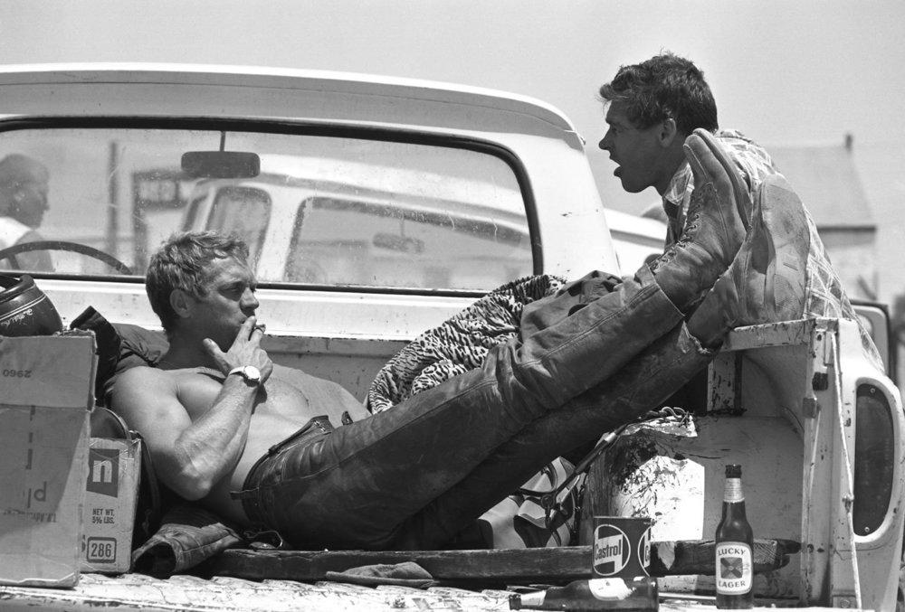Steve McQueen Drinking Lucky Lager