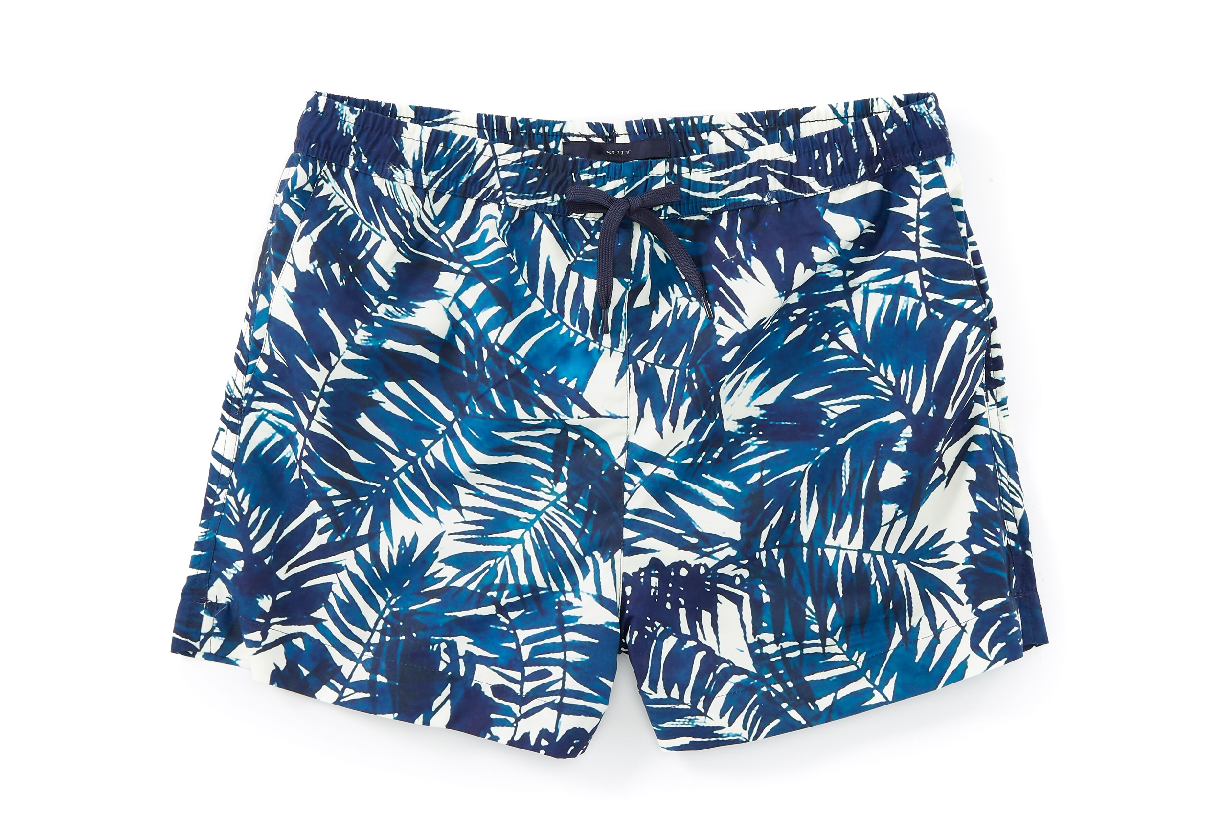 Mens Swim Trunks Ocean Waves Aqua Quick Dry Drawstring Surfing Beach Board Shorts with Pockets