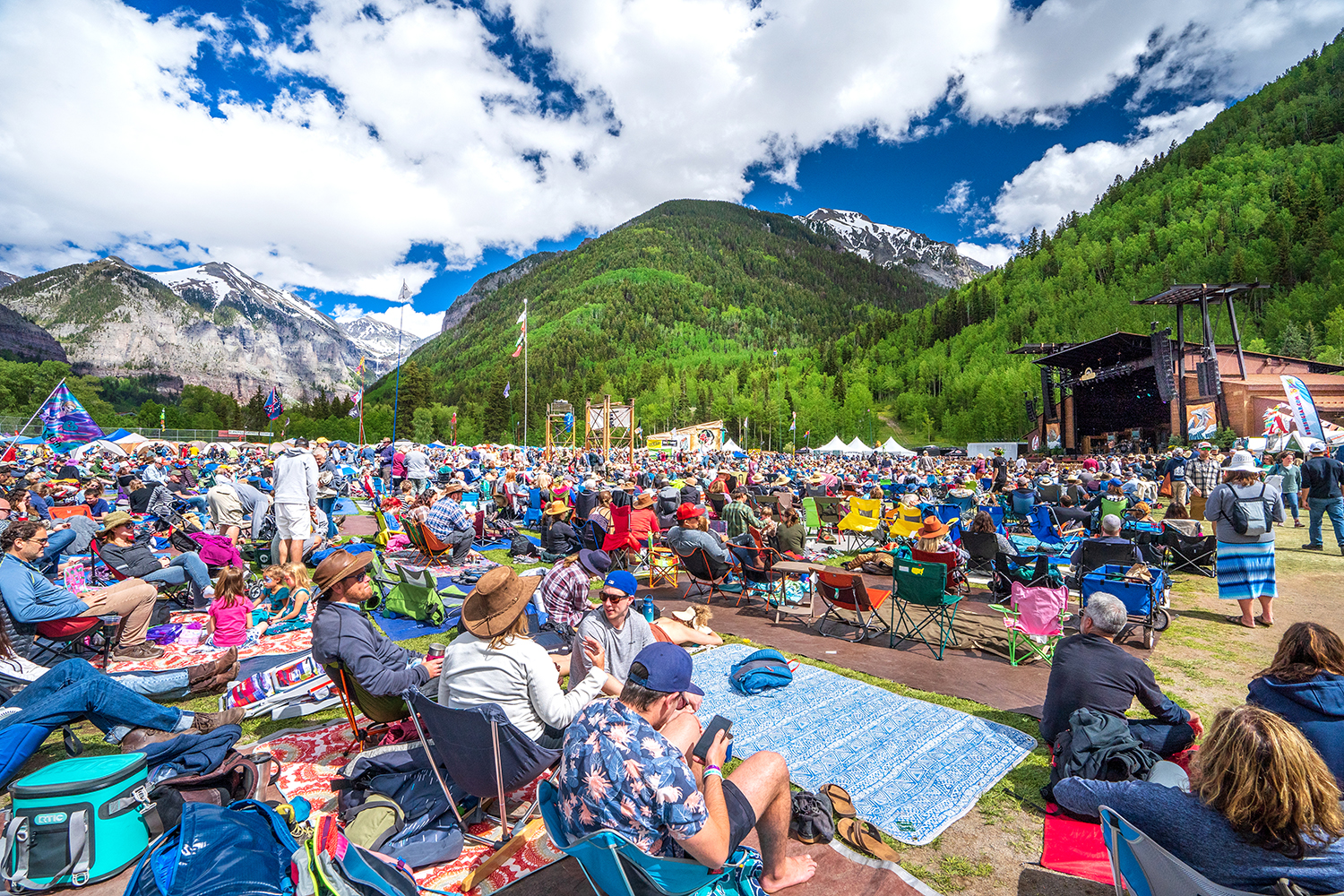 Crowds at the Telluride Bluegrass Festival