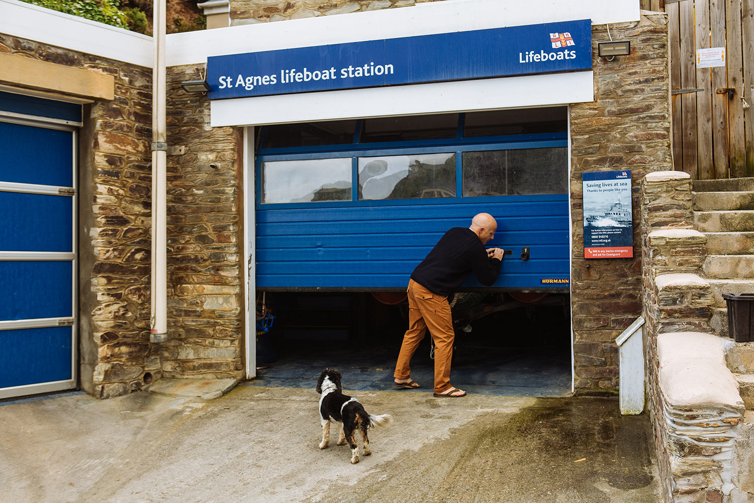 Tom Kay at the St. Agnes Lifeboat Station