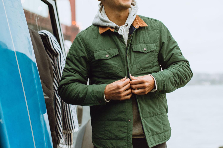 Wellen Quilted Shirt Jacket