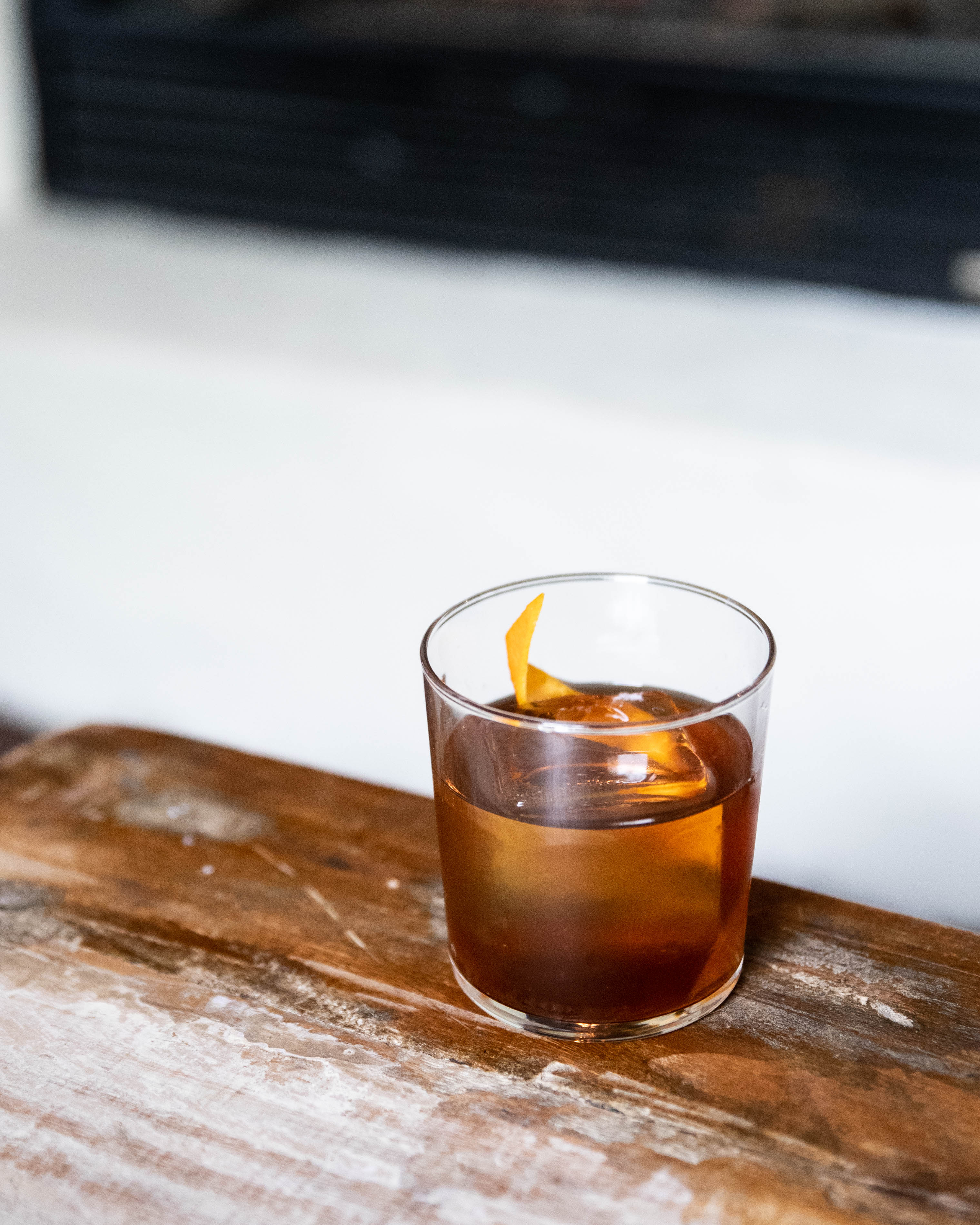 Finished Bourbon Coffee Old Fashioned