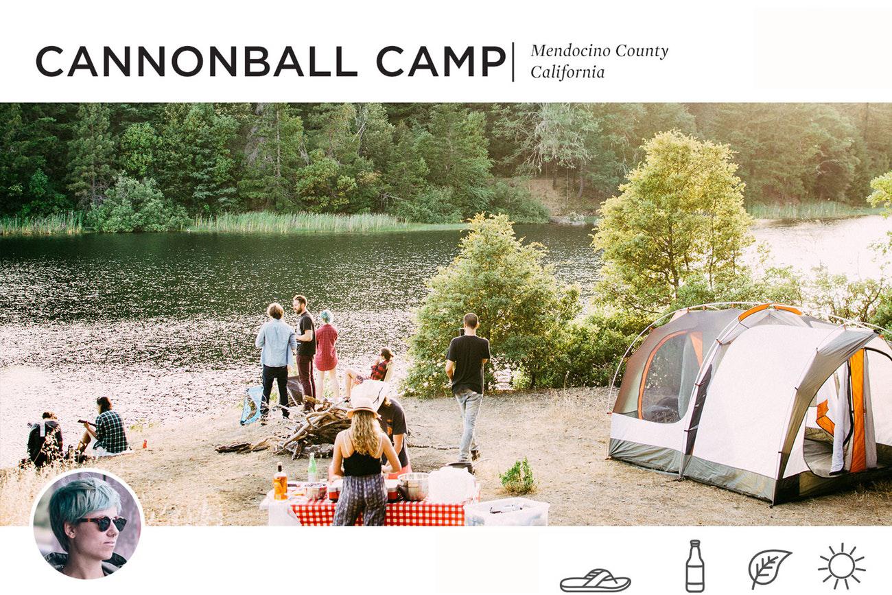 Cannonball Camp in Mendocino County, California
