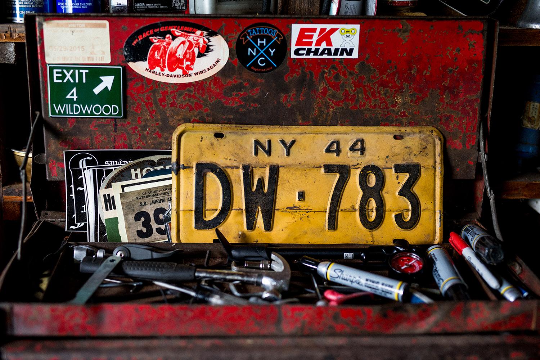 Mark Foster's garage in the Catskills