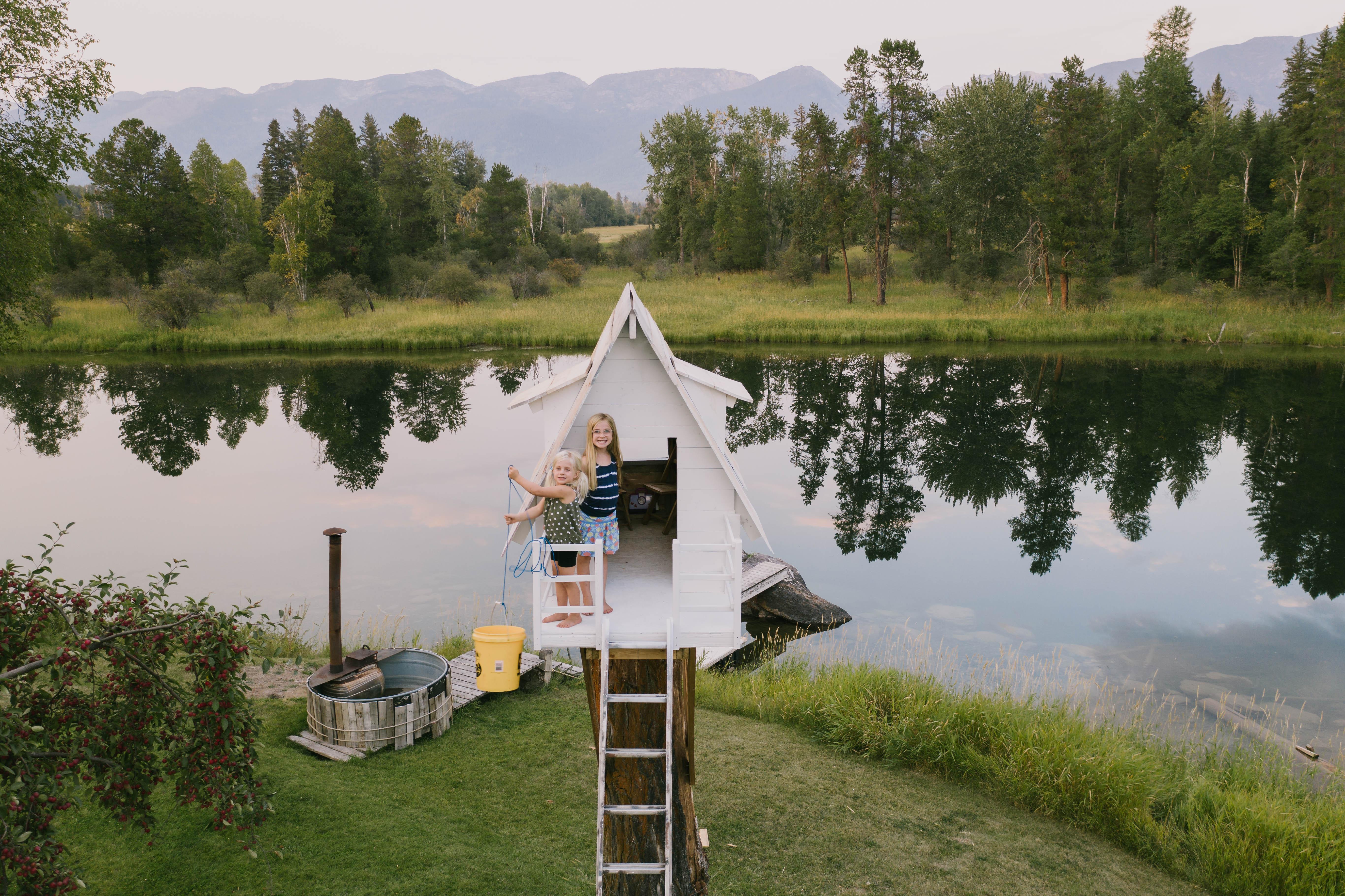 Isaac Johnston's dream treehouse