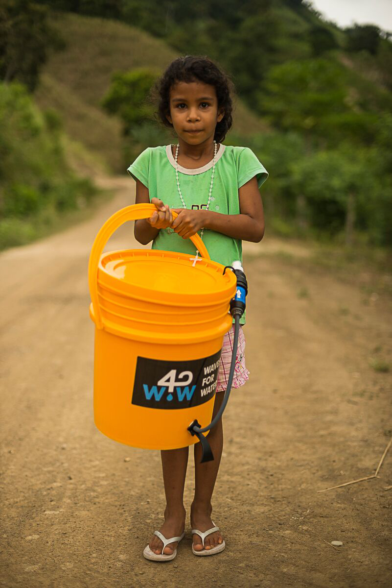 Girl with Waves for Water filter