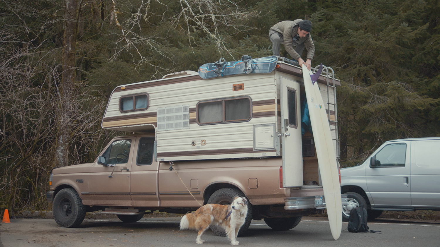 Griff Washburn lives in a camper truck in the Pacific Northwest