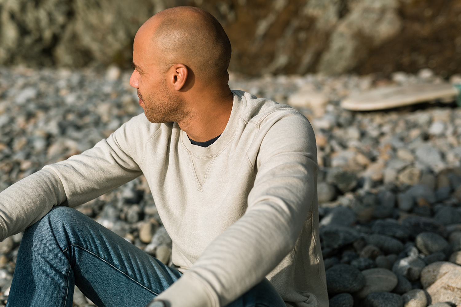 Lightweight Hemp Crewneck in Heathered Sage