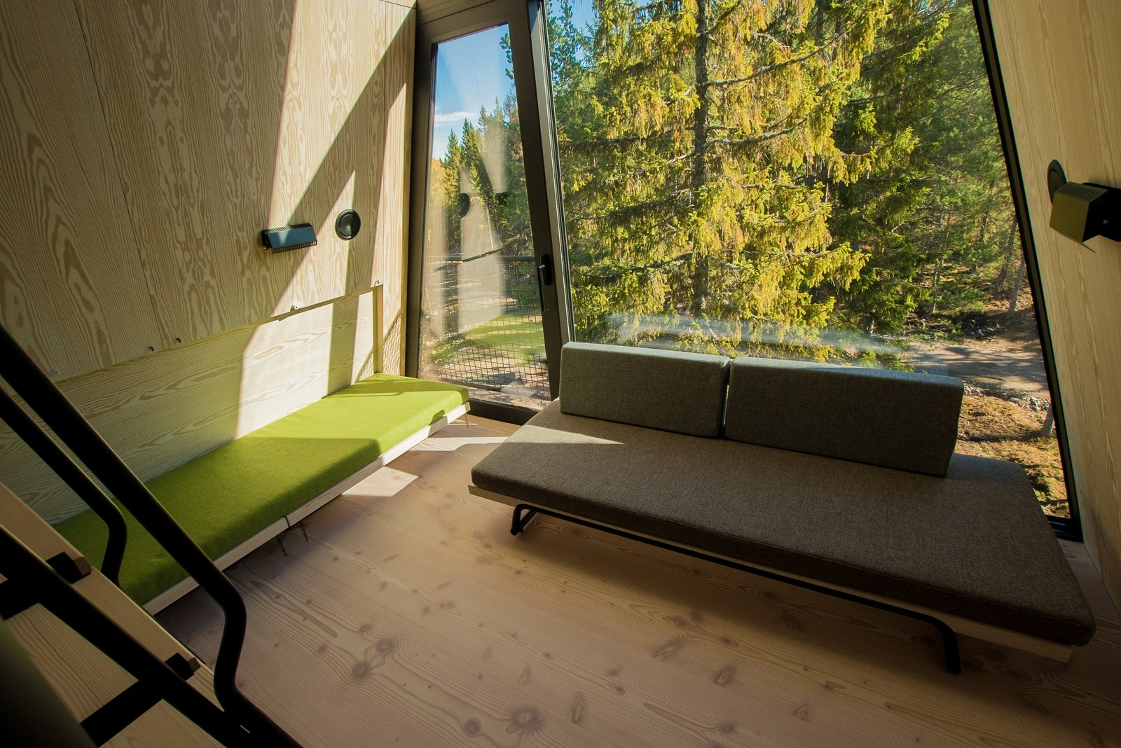Nordic A-frame interior