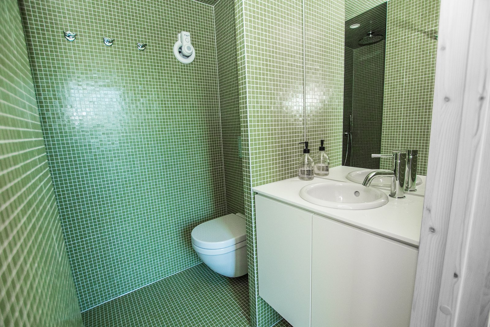 Nordic A-frame bathroom