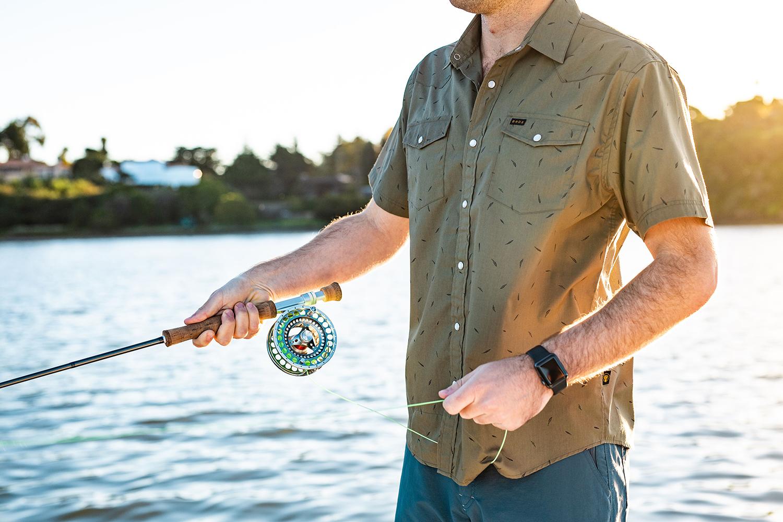 Outdoor short sleeve button down shirt