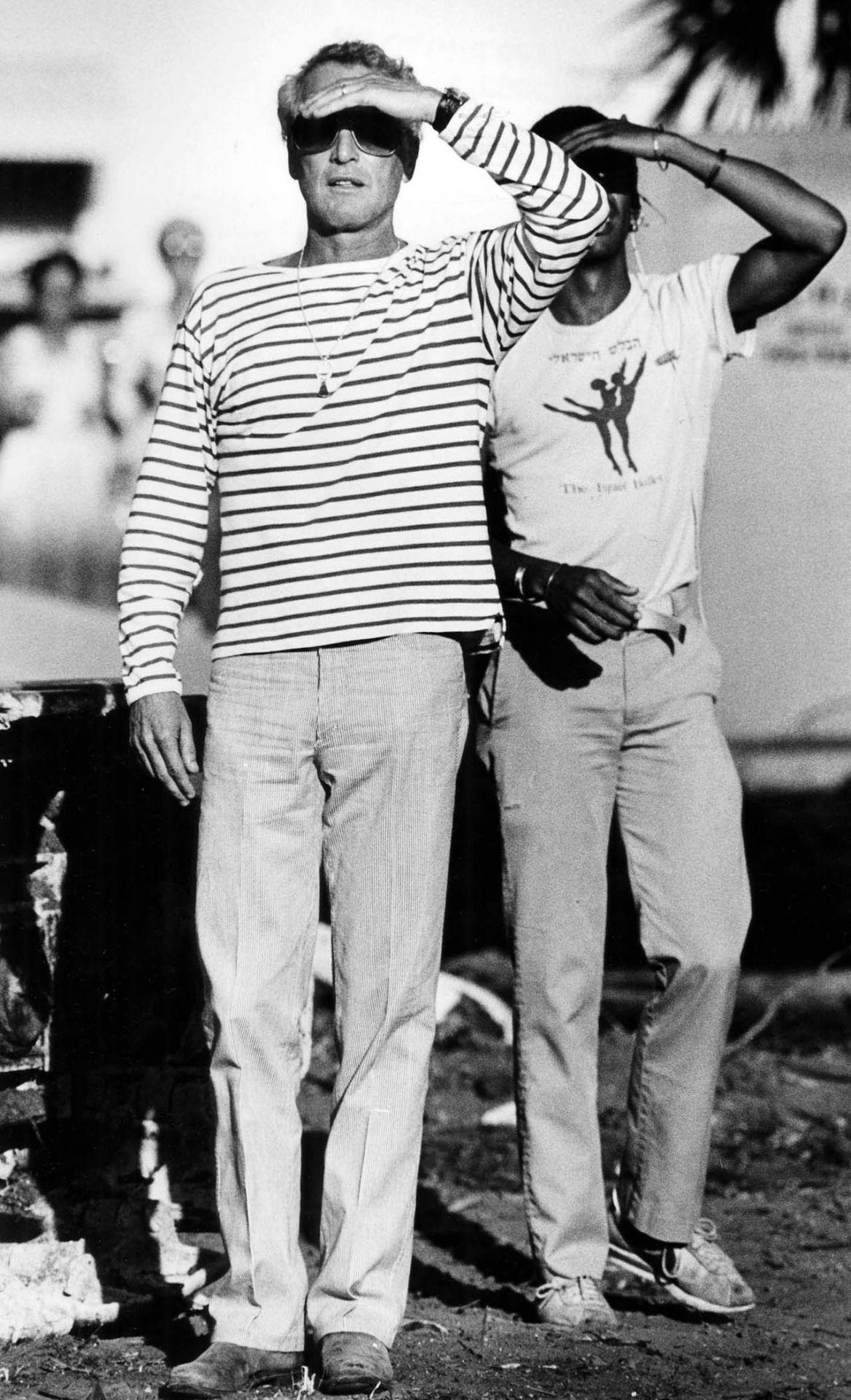 Paul Newman in stripes in 1983