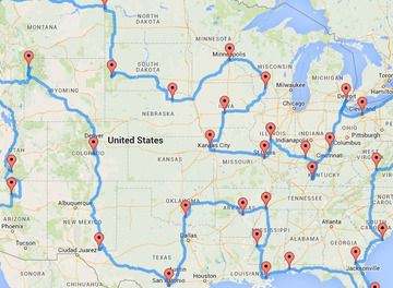Tile map perfect road trip header