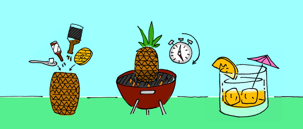Featured pineapple cocktail header