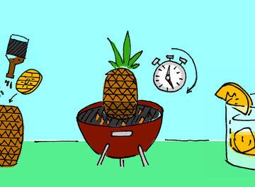 Tile pineapple cocktail header