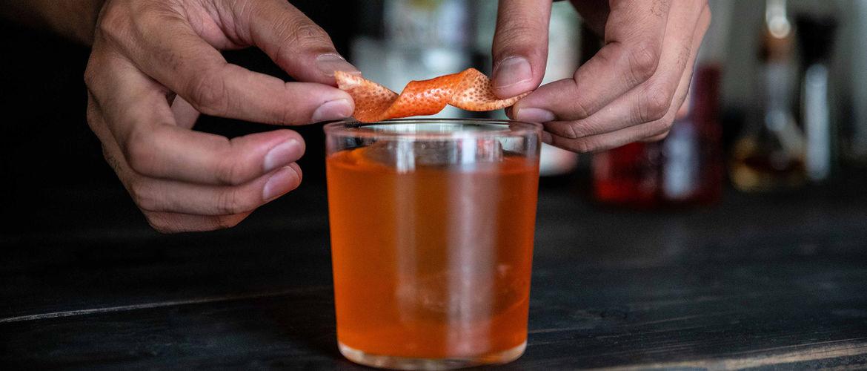 How to Make a Grapefruit Cachaça Negroni