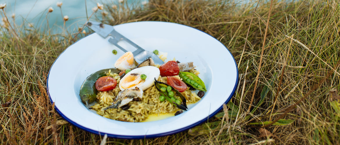 Featured open fire smoked mackerel kedgeree banner