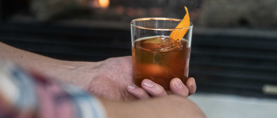 Featured bourbon coffee old fashioned banner