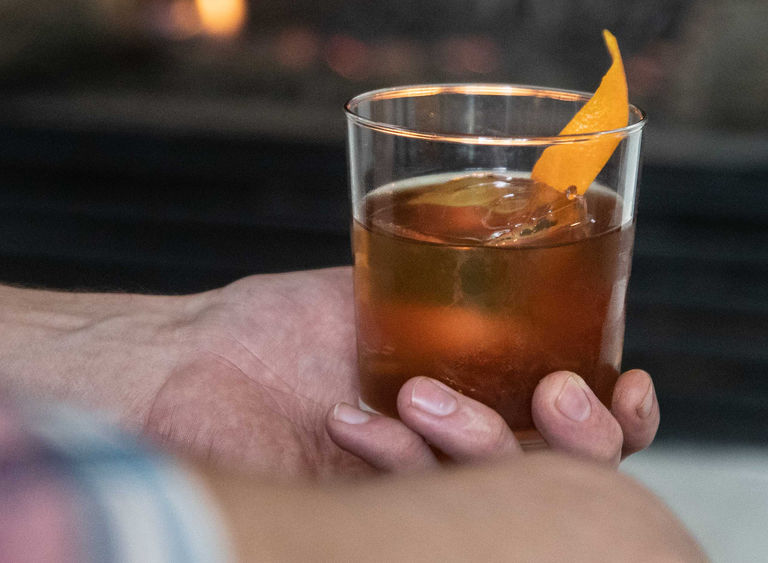 Image bourbon coffee old fashioned banner
