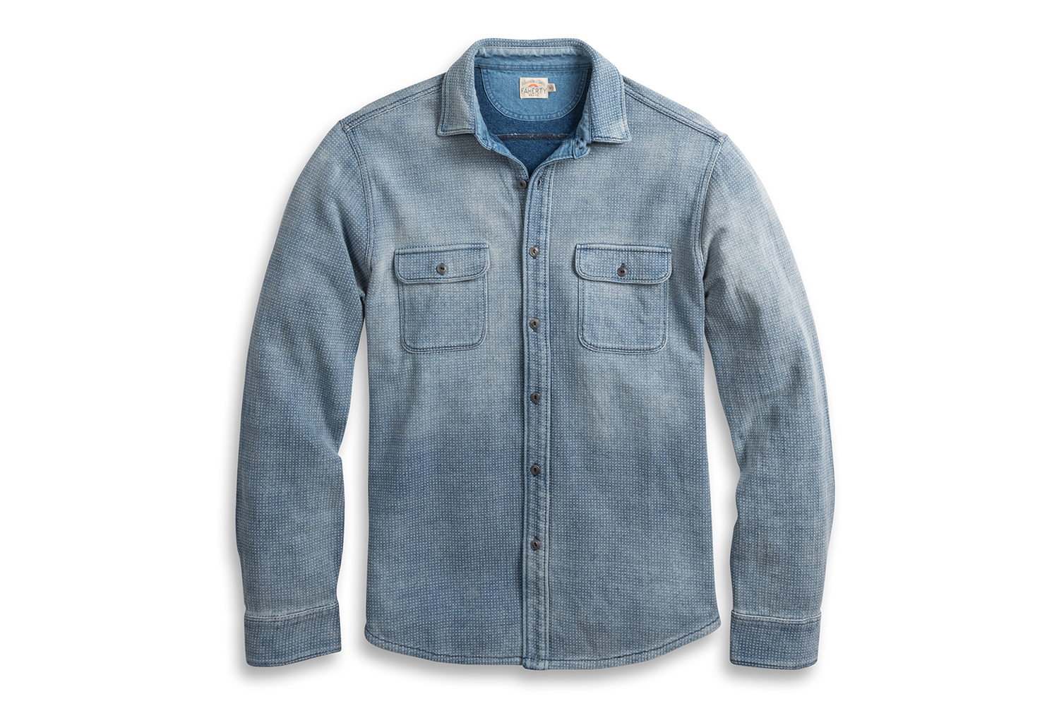 Faherty Brand Knit Dobby Workshirt Shirt Jacket