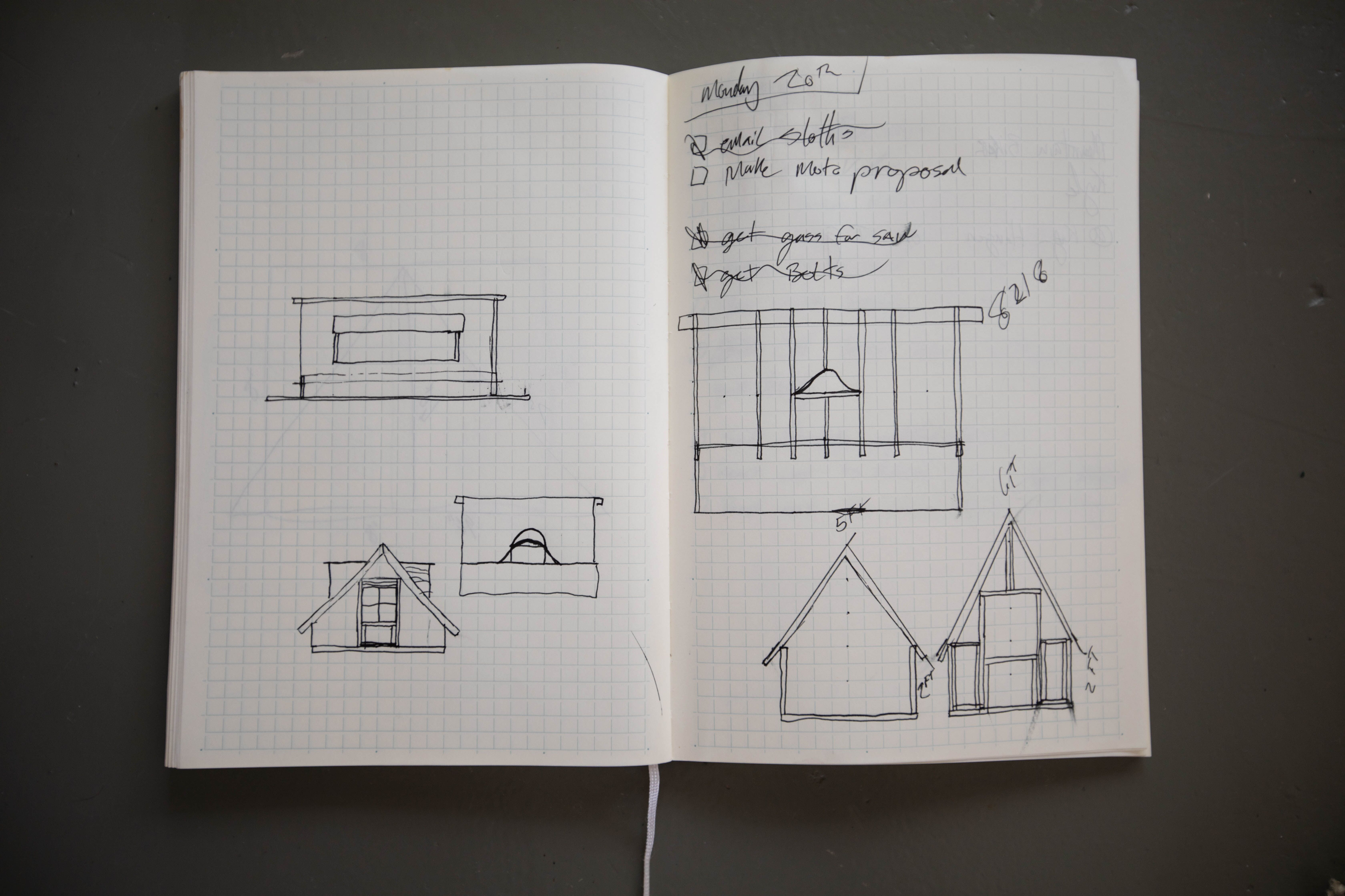 Isaac Johnston's sketch for his treehouse