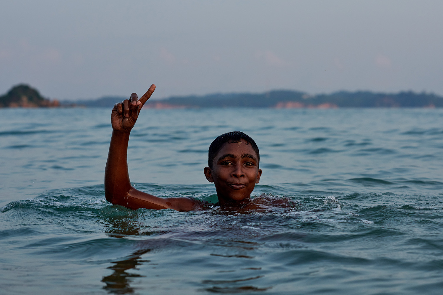 Swimming in the Indian Ocean