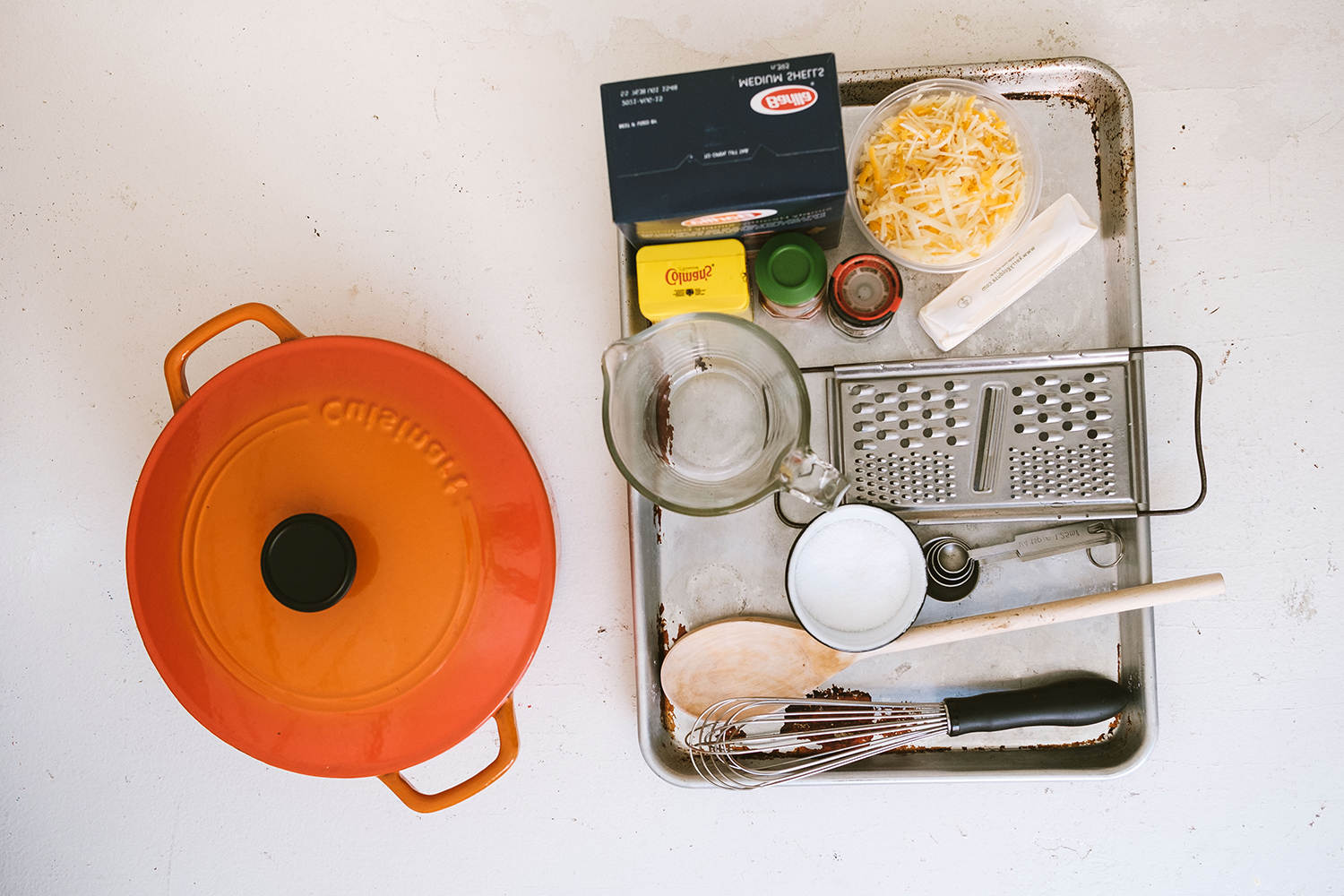 Tools for mac and cheese recipe